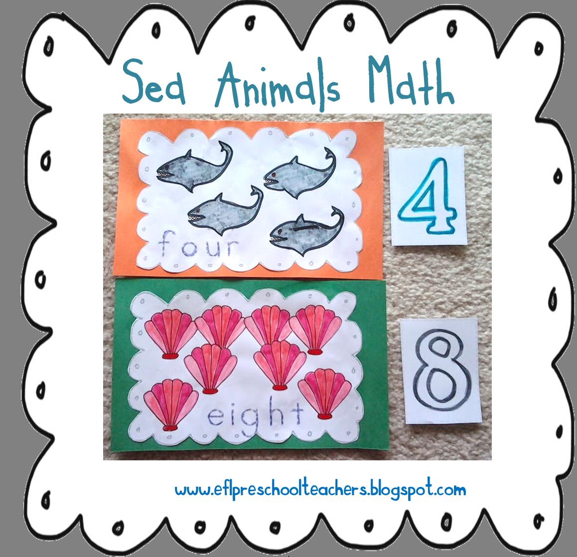 Esl Sea Animal Theme Number Cards 1 To 10