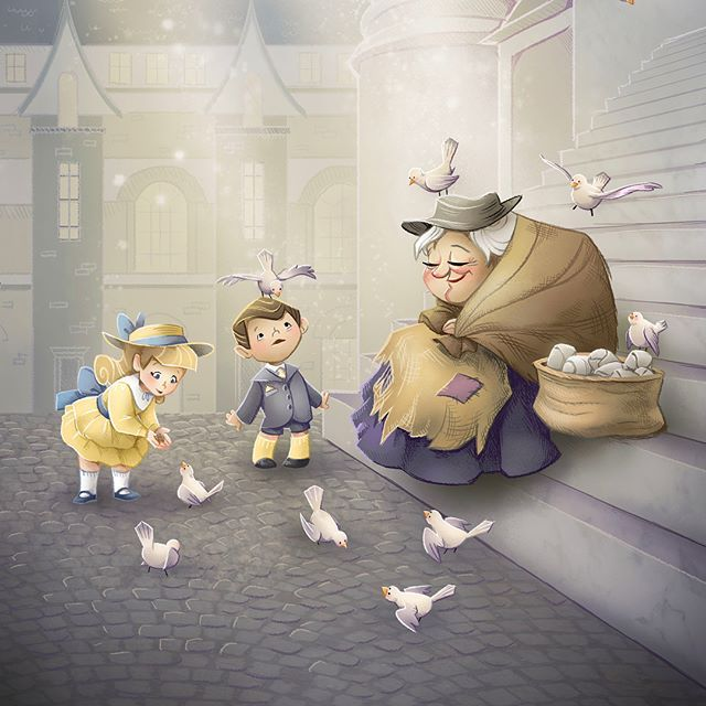Feed The Birds I Adore This Song Loved Drawing This Picture Disney Fan Art Mary Poppins Disney Drawings