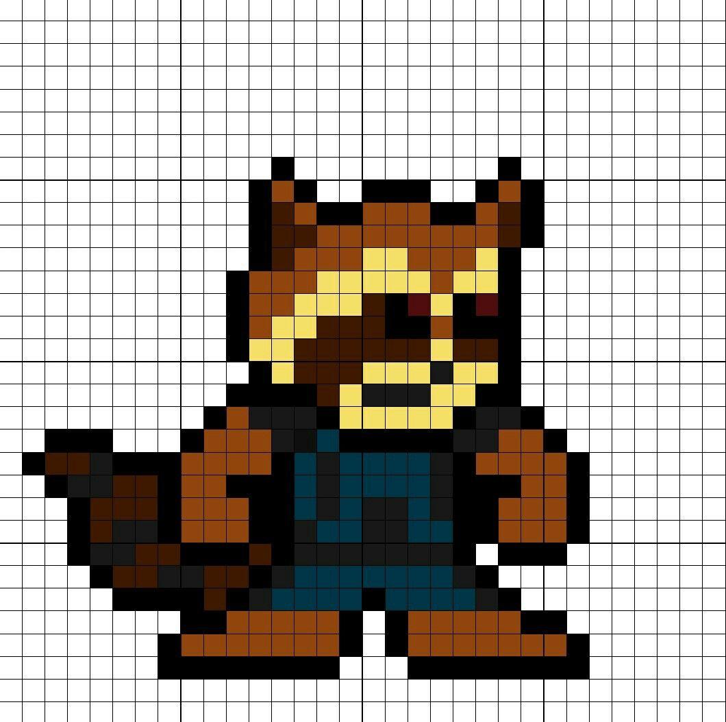 Rocket Raccoon Guardians Of The Galaxy Vol. 2 Perler Bead