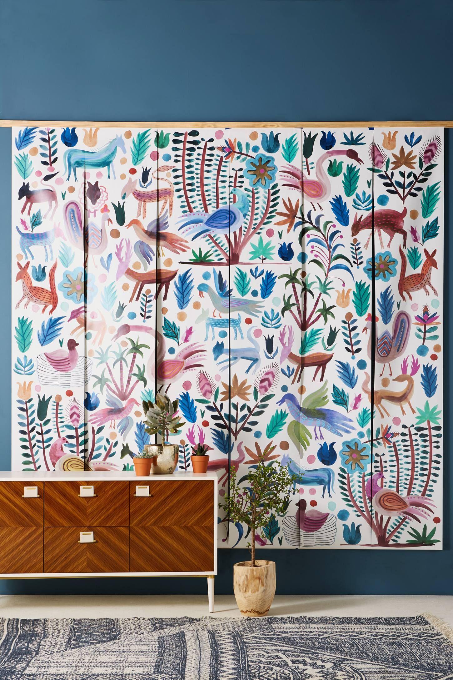 Melika mural anthropologie detail and walls
