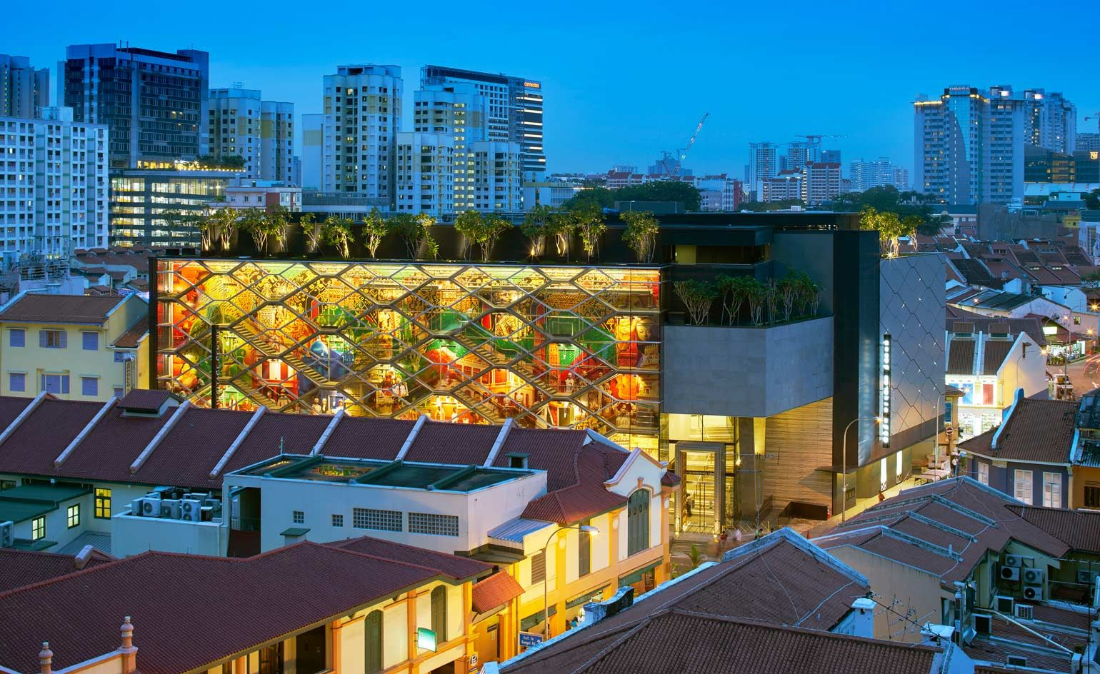 Singapore S Colourful New Indian Heritage Centre Mixes History And Modernity Cultural Architecture World Architecture Festival Architecture Wallpaper