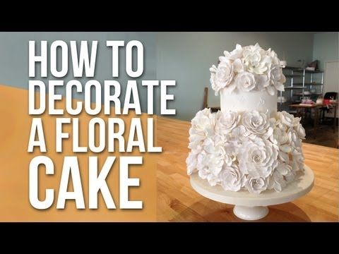 How to Decorate a White Floral Cake | Cake Tutorials. Head decorator of Charm City Cakes West, Anna Ellison shows one of her most popular cake designs.