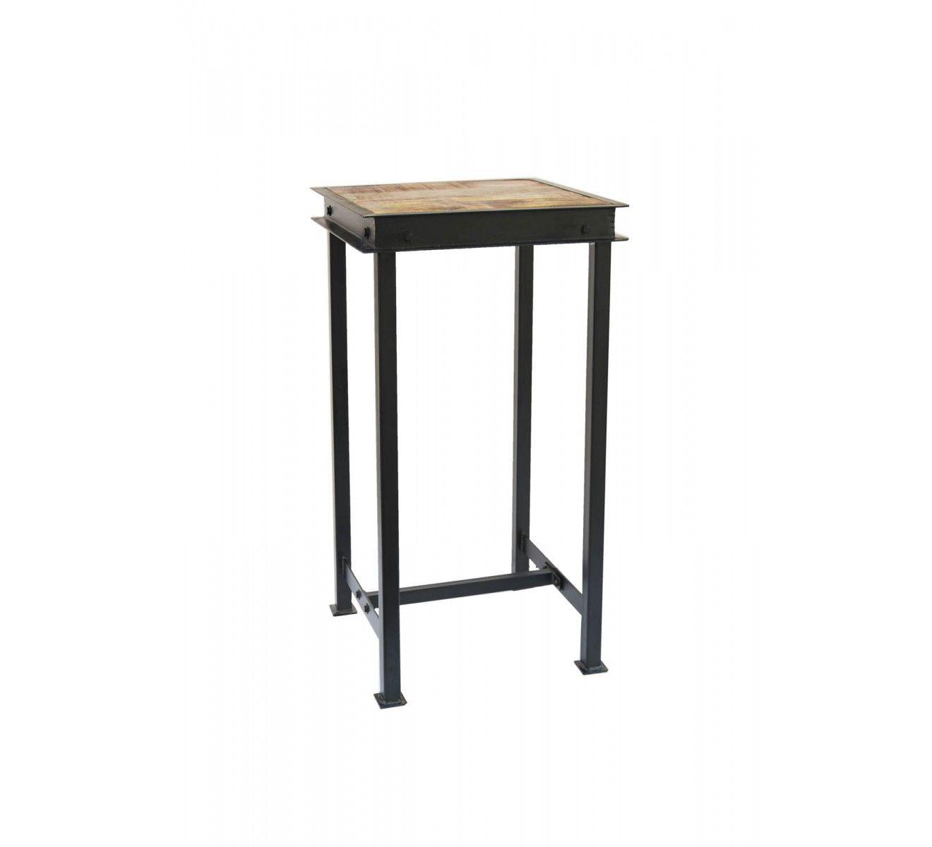 e92fe9a344e94 Tabouret de bar industriel en métal et bois  IPN