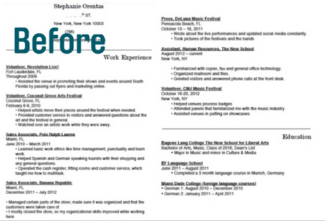17 Ways To Make Your Resume Fit On One Page Best Resume Template One Page Resume How To Make Resume
