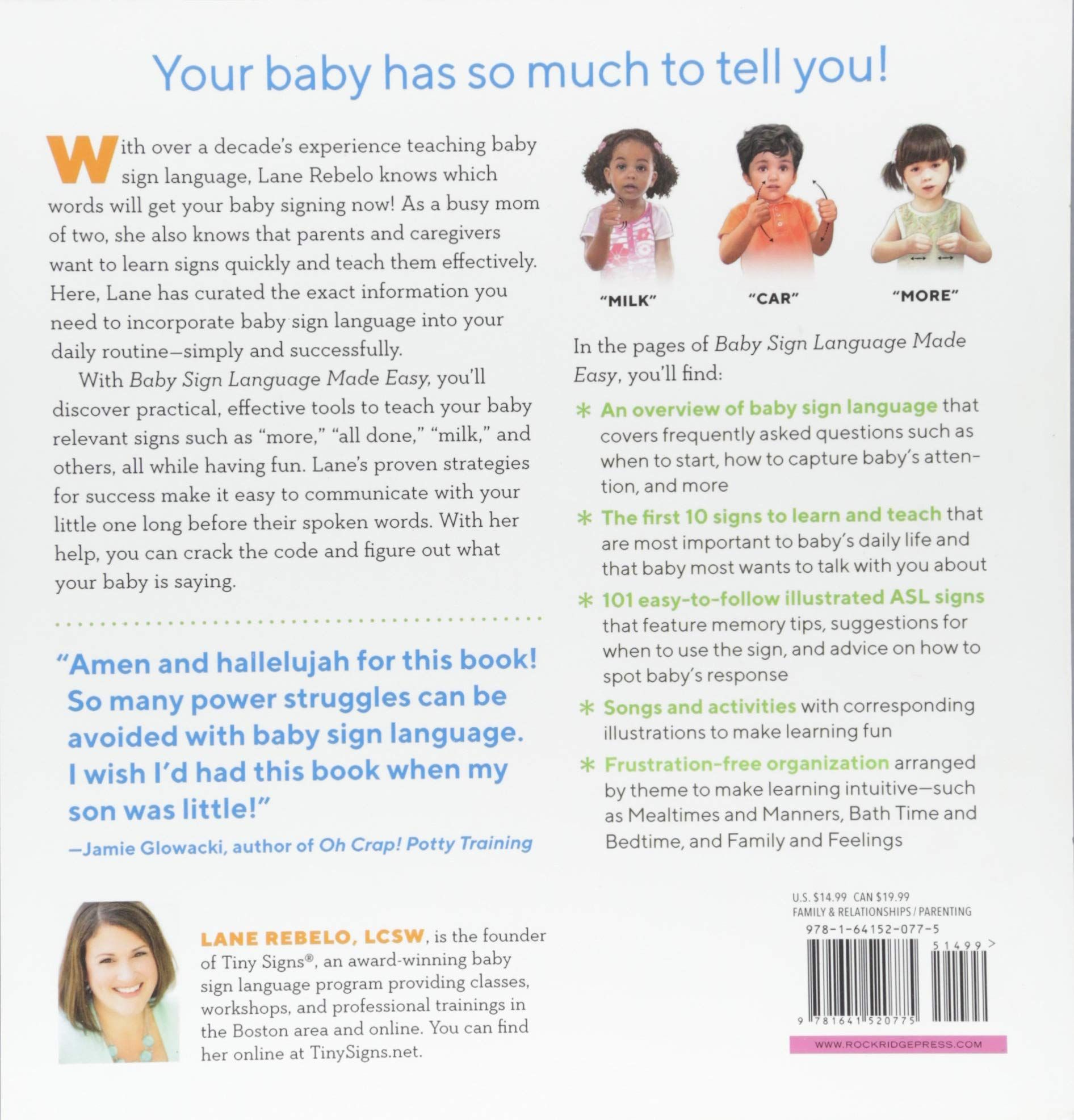 Baby Sign Language Made Easy 101 Signs To Start Communicating With Your Child Now Paperback June 12 2018 Eas Baby Signs Baby Sign Language Teaching Babies