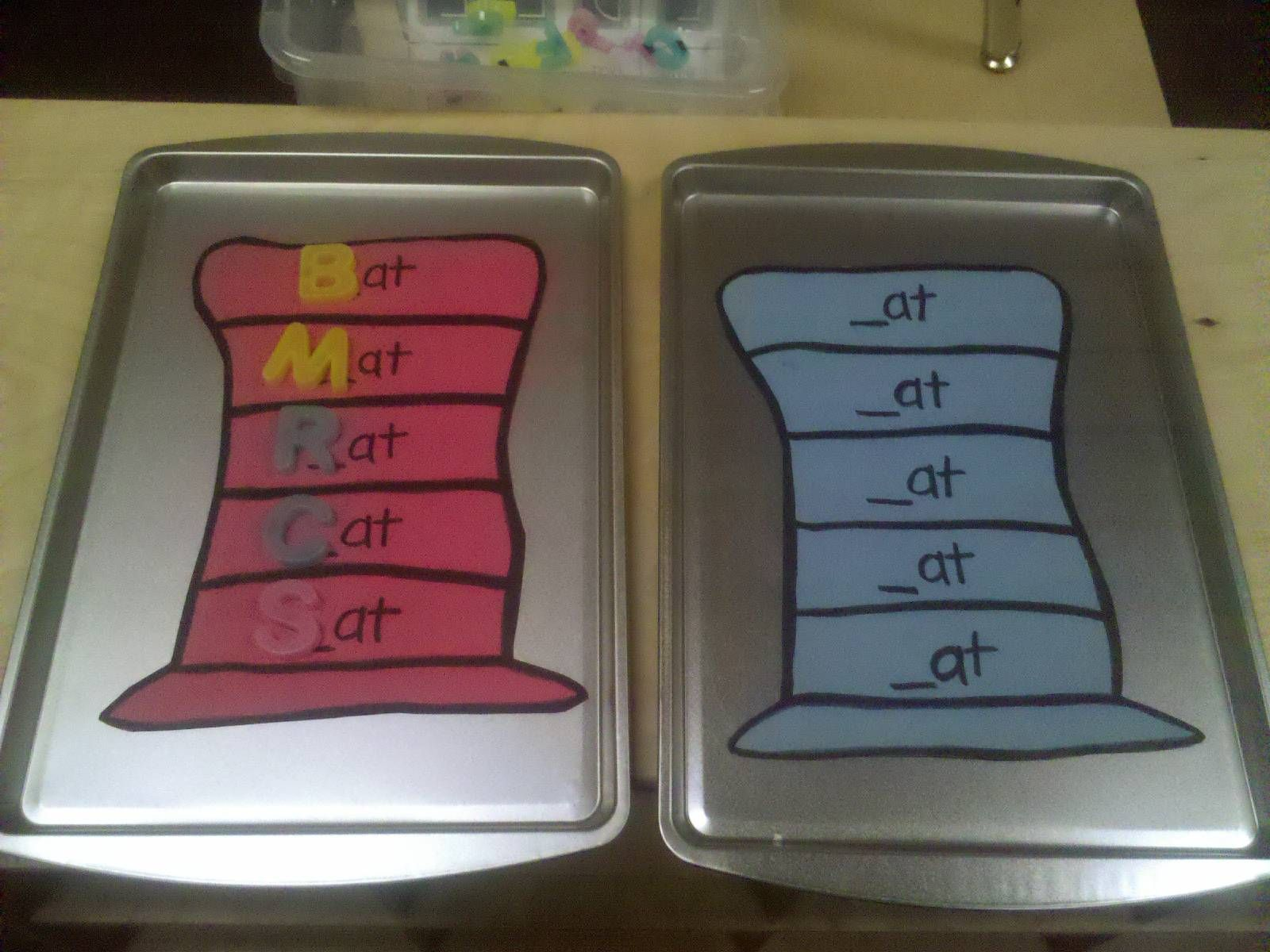 Dr Seuss Abc Rhyming Center Use Magnetic Letters And A Cookie Sheet