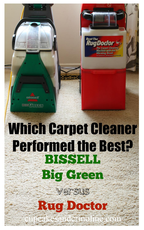 Bissell Big Green Versus Rug Doctor Rug Doctor Carpet