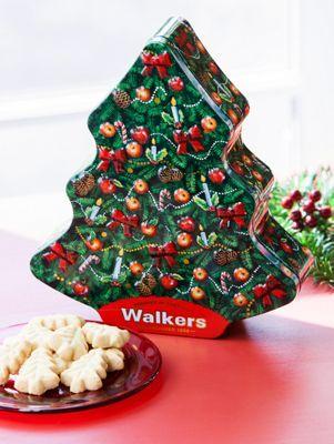 Tree Shaped Walker Shortbread Cookies In Christmas Tin Walkers
