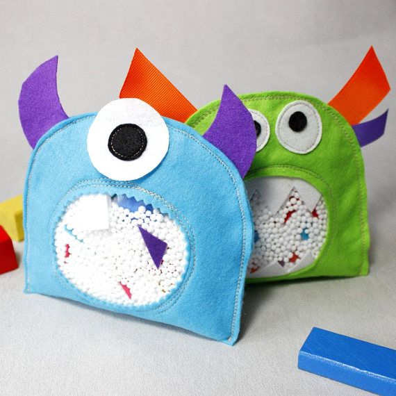 Christmas Toy Pattern, Sewing Pattern,Monsters, DIY, Sensory Toys ...