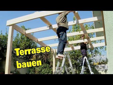 Terrasse selber bauen aus Holz Terrassenüberdachung