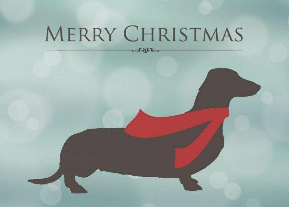 Christmas dachshund christmas dachshund silhouette