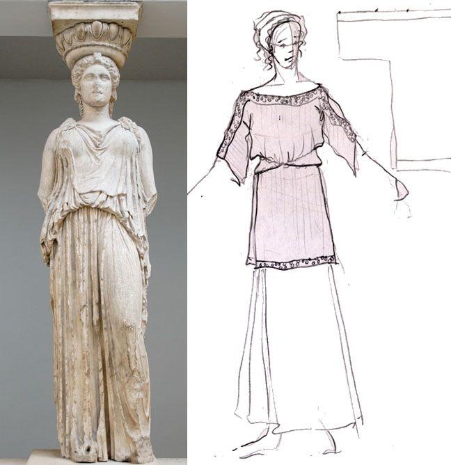 Одежда древней греции картинки туника