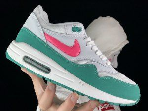best sneakers 6bf6c 94053 Womens Nike Air Max 1 Summit White Sunset Pulse Kinetic Green AH8145 106  Running Shoes