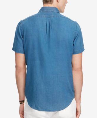 Polo Ralph Lauren Men's Classic-Fit Shirt - Navy 3LT