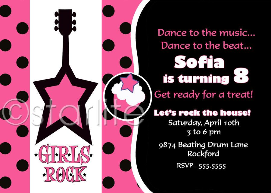 Pop Star Diva birthday party invitation Rock Star by starwedd - best of sample invitation letter debut party