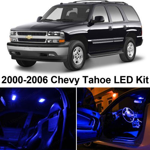 Chevy Tahoe 2000 2006 Blue Premium Led Interior Lights Package Kit 10 Pieces Ledpartsnow Http Www Amazon Com Dp B00h Chevy Tahoe Chevy Chevy Tahoe Interior