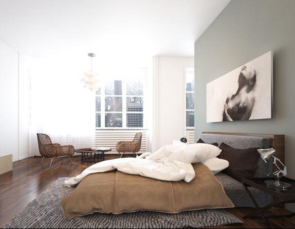Minimalist bedroom design by Joanna Ropiak, via Behance