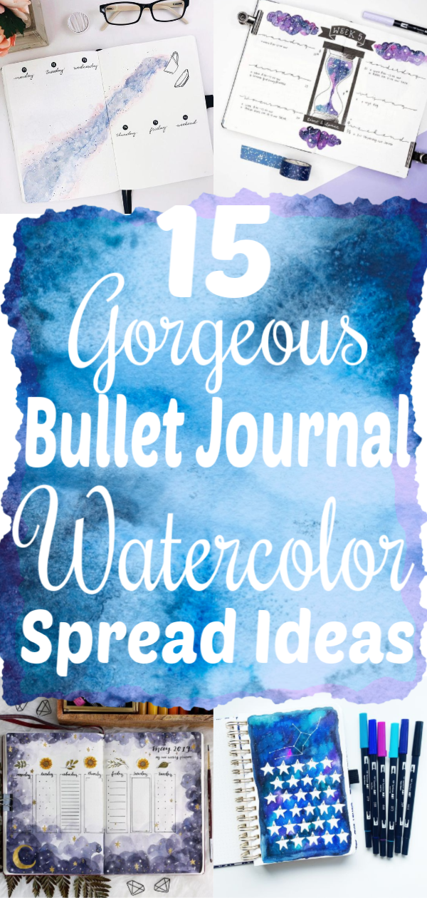 15 Gorgeous Watercolor Bullet Journal Ideas You Need To See - The Clever Side