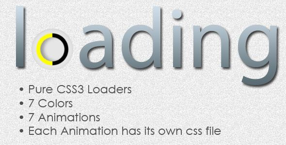 Simple CSS3 Animated Loaders . • Pure CSS3 (no java scripts)• 7 Colors• 7 Animations• Easy to