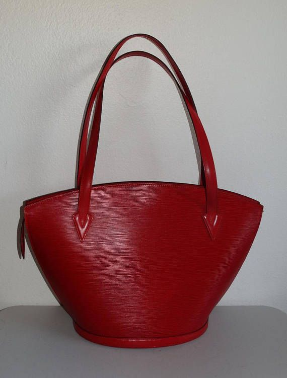 5a93643e9a3a Authentic Vintage Louis Vuitton Red Epi Leather Saint Jacques Tote ...