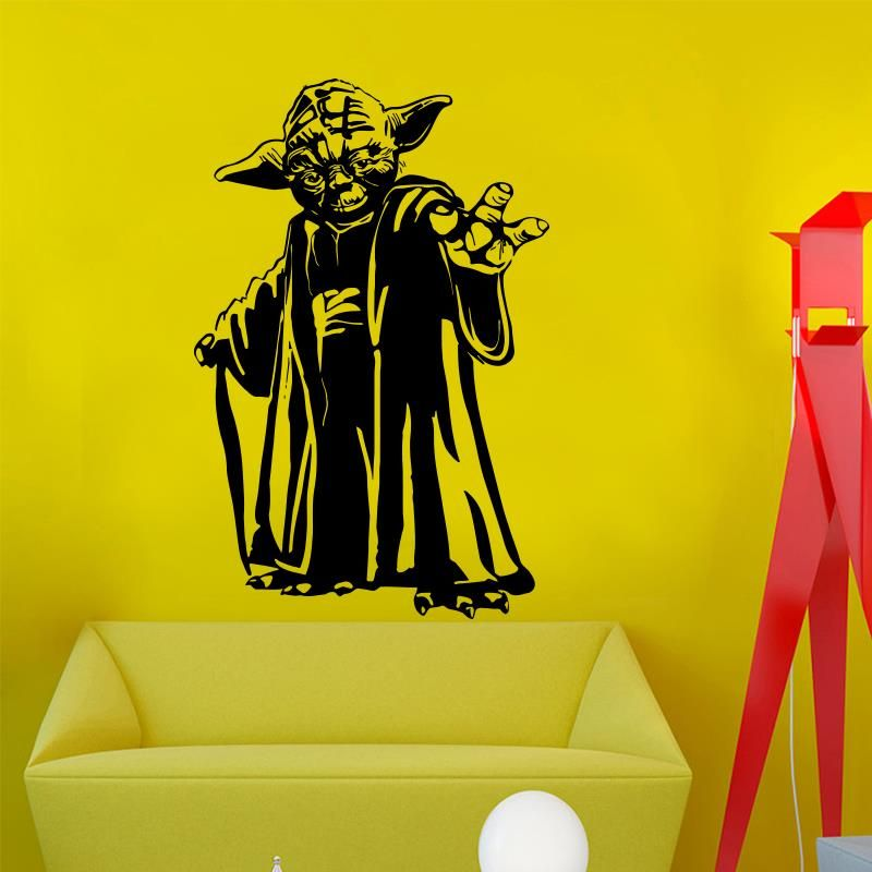 Find More Wall Stickers Information about New design Master Yoda ...