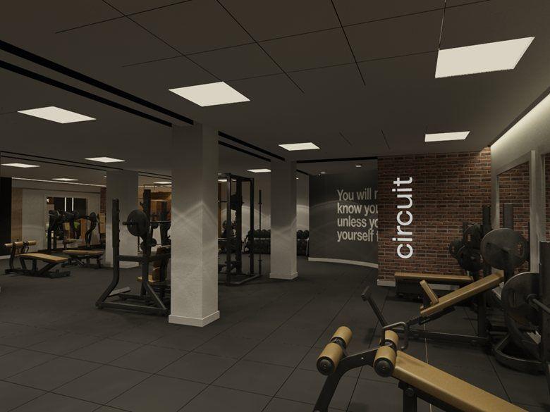 Fitness Facility/ Gym Interior, Tirana, 2015 - DENISA MYFTIU