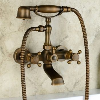 Brass option: Chester Classic Wall Mount Clawfoot Tub Filler ...