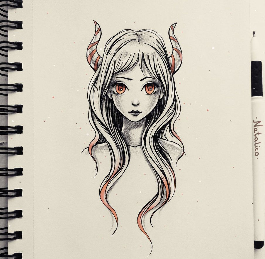 Daemon by natalico on DeviantArt Sketches, Art sketches