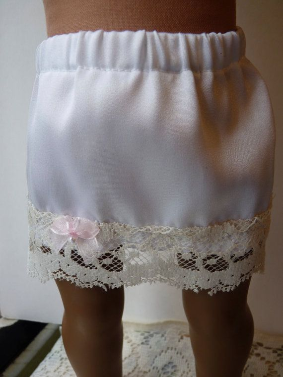 SATIN AND LACE half slip for American Girl by RhinestonestoRubies, $8.00