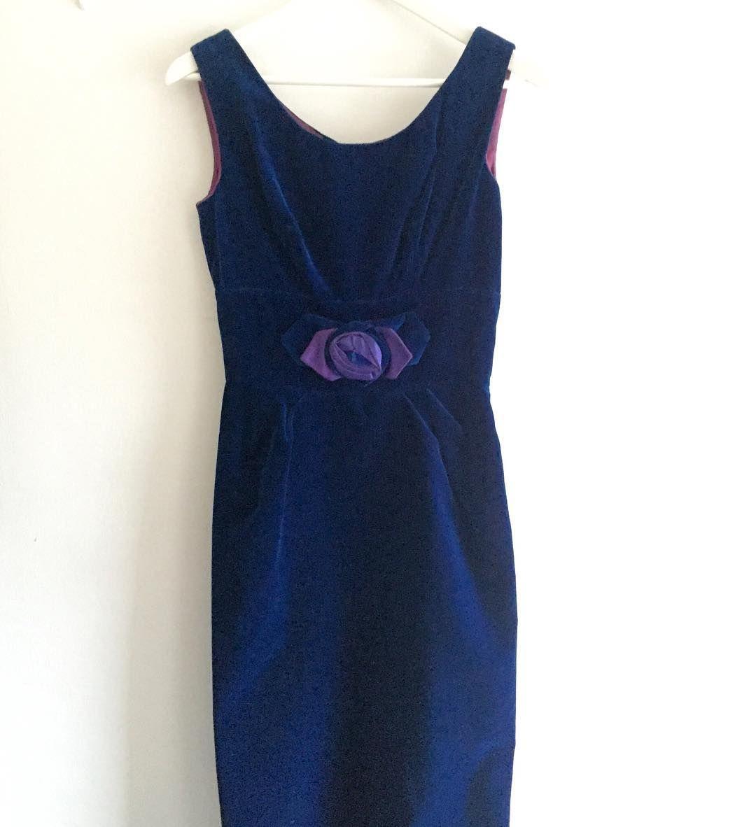 New product roseblue velvet vintage dress#fab.#vintagefashion #1950s #1960s #ヴィンテージ #ビンテージ #ヴィンテージファッション #ヴィンテージワンピース #ヴィンテージドレス #古着 #ベルベット