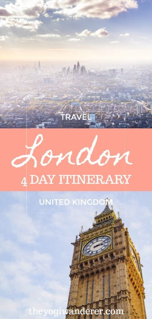 The Definitive 4 Day London Itinerary for 1st Timers #travelengland