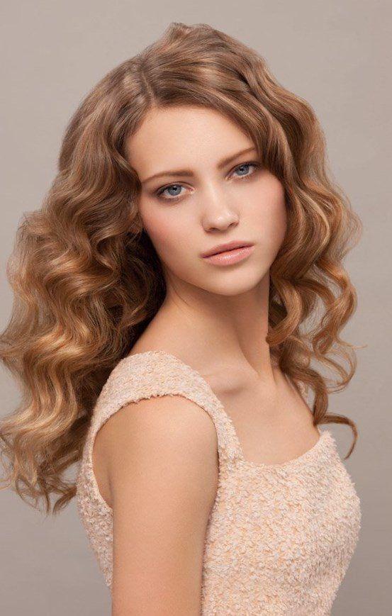 Frisuren fur locken lange haare