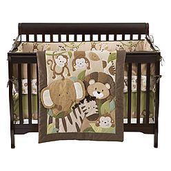 Small Wonders 4 Piece Zoomba Safari Crib Bedding Set 53 99 Baby