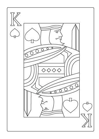 King Of Spade Coloring Sheet King Of Hearts Card Hearts Playing Cards King Of Spades