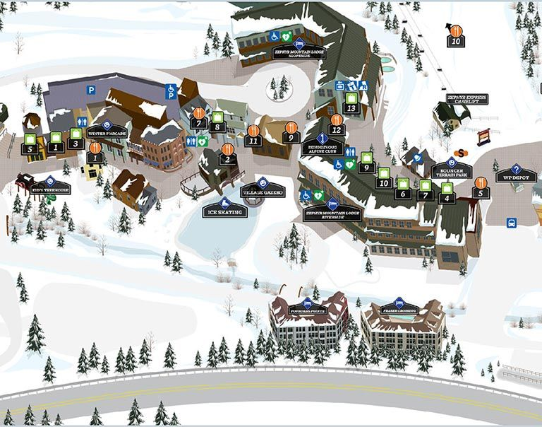Pin By John Mccolly On Base Area Maps Winter Park Resort