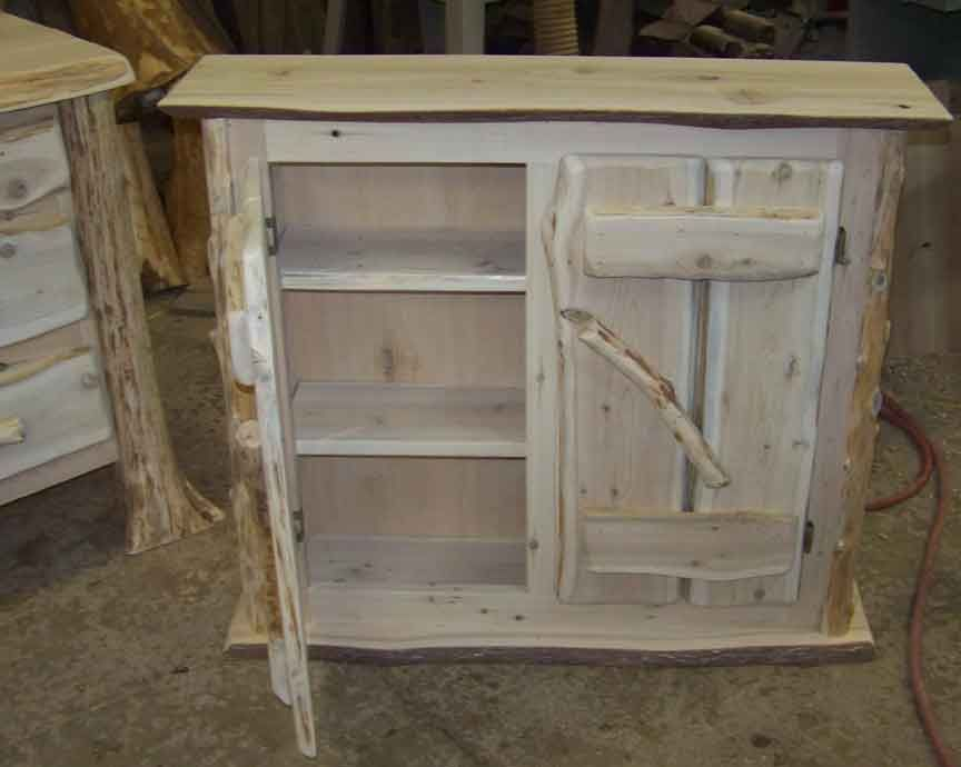 Rustic Kitchen Cabinets Rustic Handcrafted Cedar Vanity Log Cabin Ideas For Our House