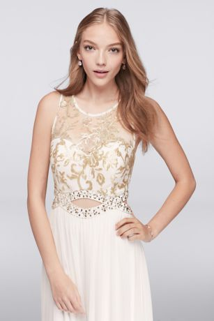 This Greek goddess-worthy prom dress has ethereal illusion tank ...