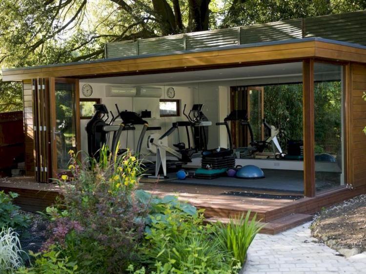 28 Awesome Home Gym Design Ideas Ideias De Quintais Sala De Academia Em Casa Ideias De Casas