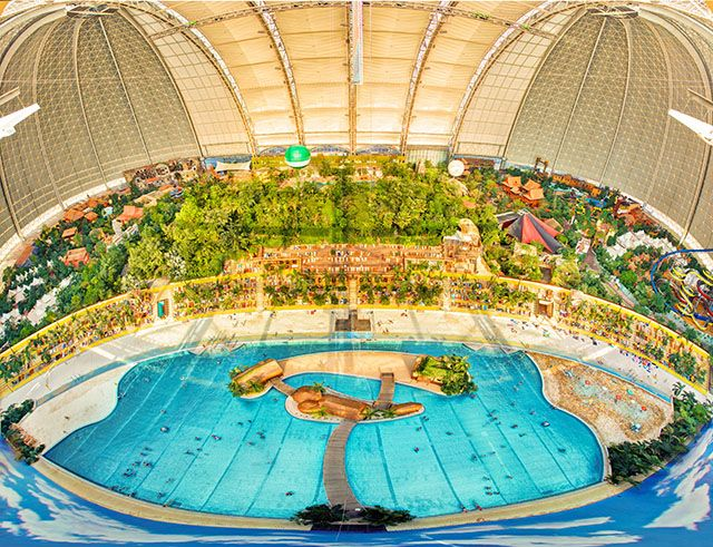 Top 10 Extremely Cool Water Parks Purple Travel Tropical Islands Resort Island Water Park Water Park