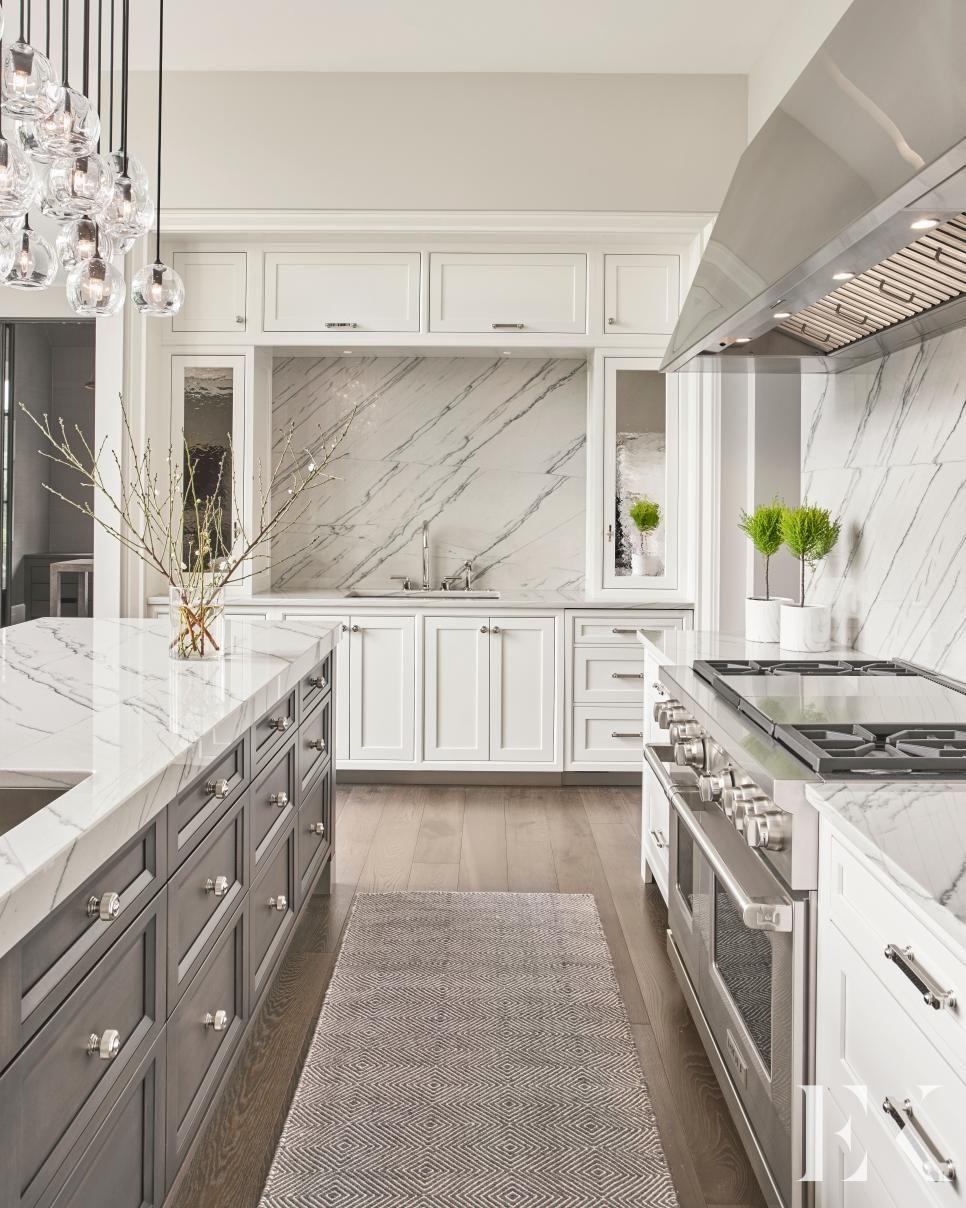 Kitchen Dining Sleek Pro Grade Kitchen Pro Grade Appliances And Tons Of Coun In 2020 Traditional Kitchen Design Stone Backsplash Kitchen Interior Design Kitchen
