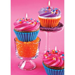 Vanilla scented cupcake candle Cupcake party ideas Pinterest
