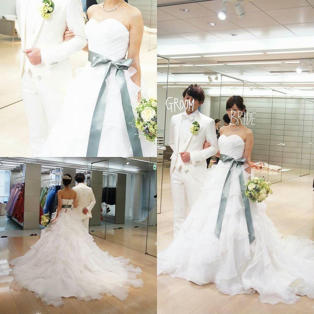 541925ef87d88 ドレス試着レポ ウェディングドレス なみなみが可愛いフリフリドレス 今見ると こゆ型