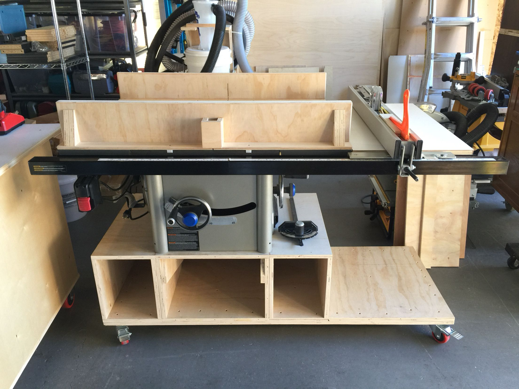 Table saw mobile base for Delta 36-725 | Table saw | Pinterest ...