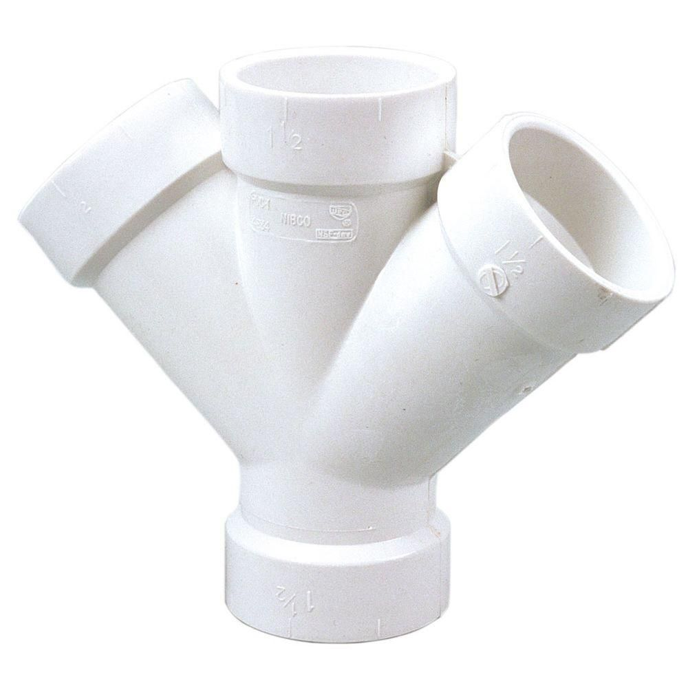 Nibco 3 In Pvc Dwv 45 Degree H X H X H Double Wye C48343 The Home Depot In 2020 Chicken Feeder Diy Chicken Runs Chicken Feeders