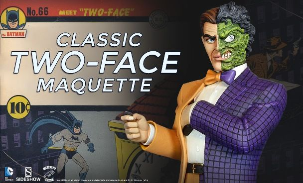 ToyzMag.com » Preview Sidehow: Tweeterhead Classic Two-Face Maquette