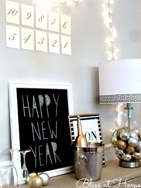 From Holiday to New Year\'s Eve Lamp Using a Fillable Glass Lamp ...
