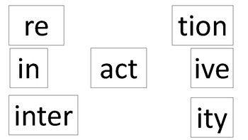 Morphological Matrix- combining prefixes, roots, and