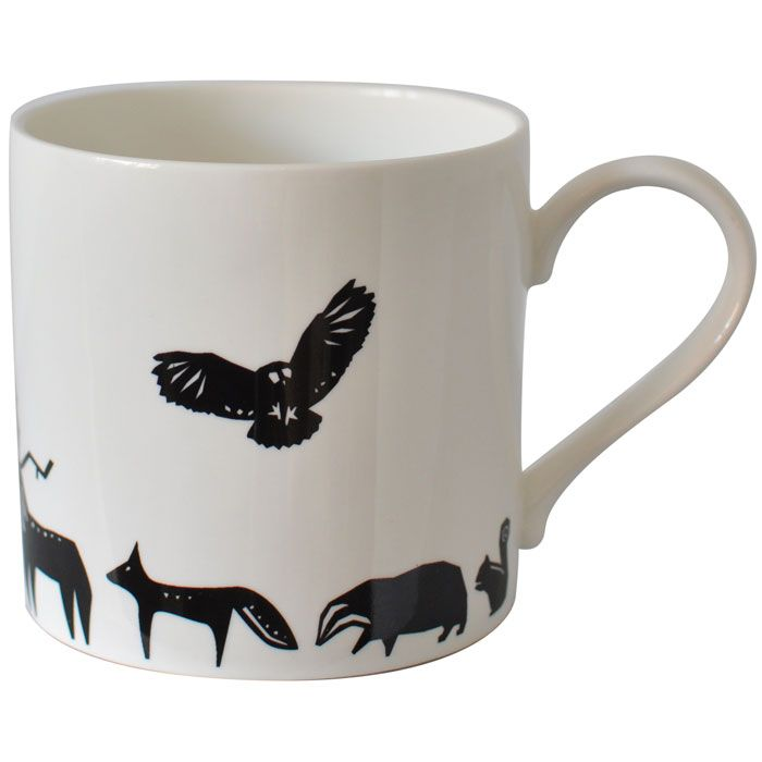Scandinavian Design Mug With Small Animals