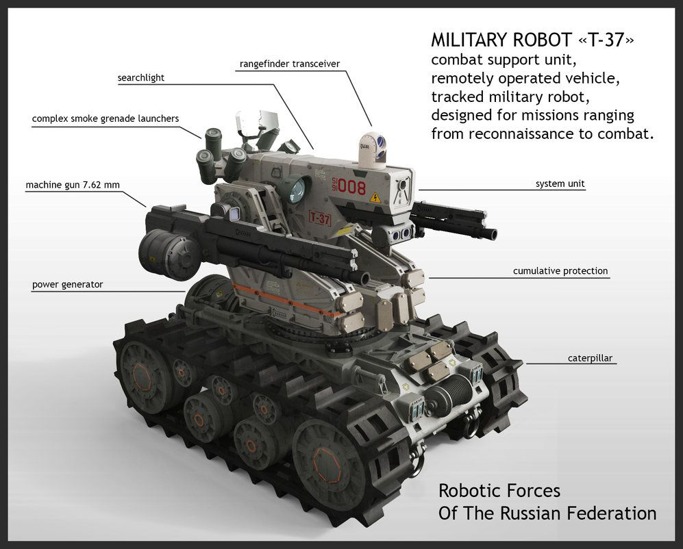 Military robot t37 combat support unit remotely