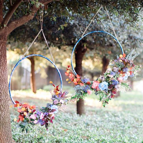 Diy Hula Hoop Wreath Wedding Flowers Wreaths